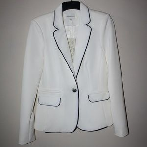 Daniel Rainn Piped Fitted Blazer